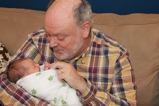 Riley and Grampus on the day after she was born (photo by Jason Mesnick).