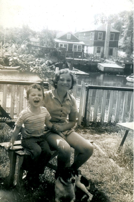 My sister Marcia and I loved living on The Canal (I still love Marcia!)
