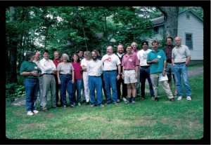 Participants in the global impacts of bottom trawling workshop, June 1996.