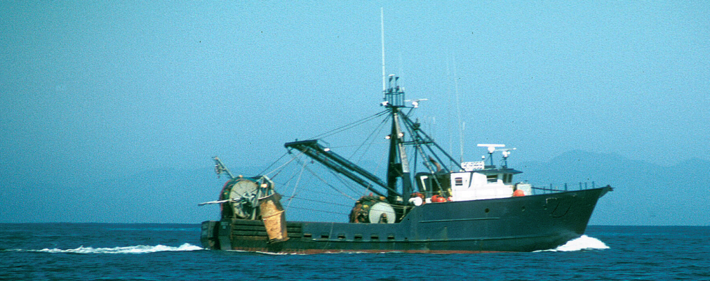 Trawler in Olympic Coast National Marine Sanctuary, photo: Elliott Norse.