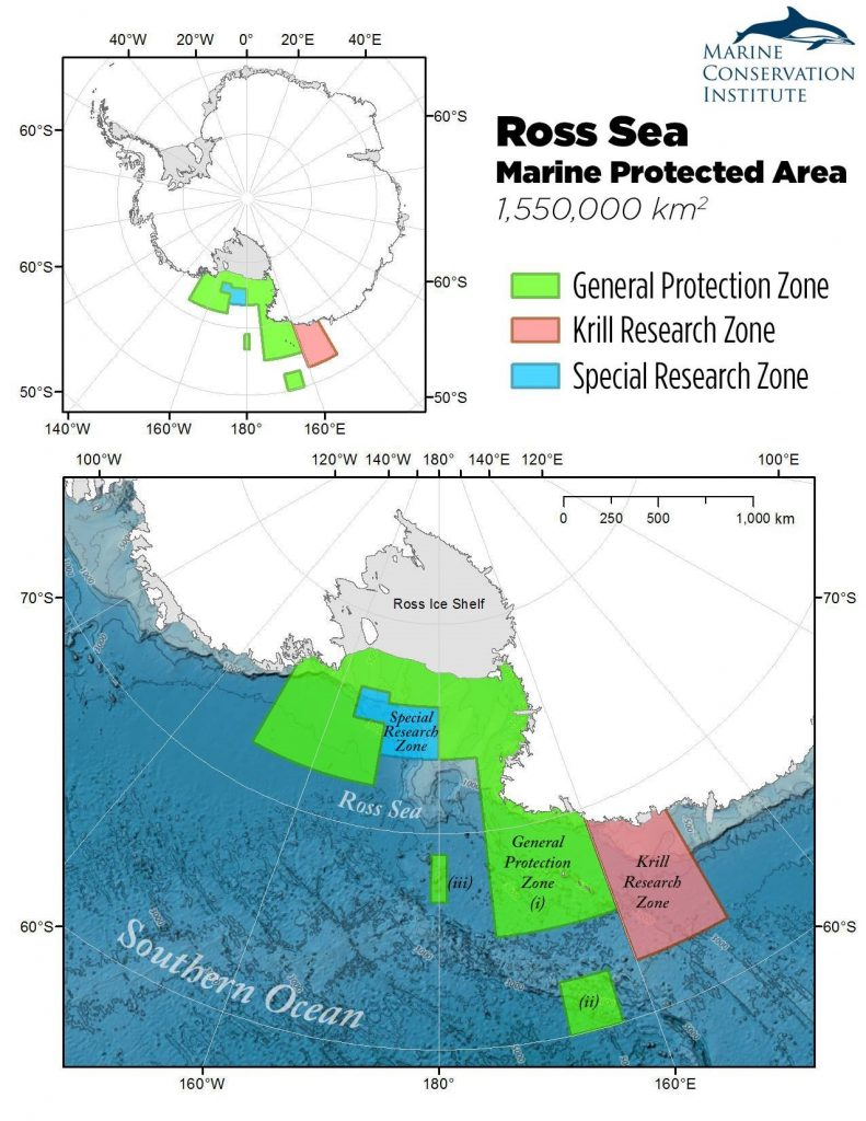 Once the new Ross Sea marine reserve goes into effect, 3.41% of the global ocean will be in protected areas, and 1.95% will be strongly protected in marine reserves. Source: MPAtlas.org